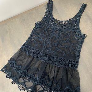 Dex Black lace tank top
